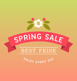 with template text spring sale Creative des vector image