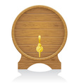 wooden barrel 02 vector image vector image