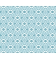 Background with seamless pattern in arabic style vector image