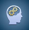Human head with gears vector image