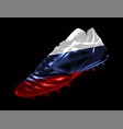 3 d soccer football boot with the flag of russia vector image