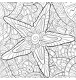 adult coloring bookpage a cute starfish on the vector image