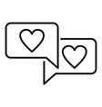 affection chat icon outline style vector image vector image