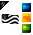 american flag icon isolated flag usa set vector image vector image