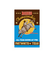 American Rodeo Cowboy riding a bull vector image vector image