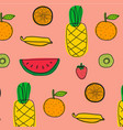 background with fruits pattern vector image vector image