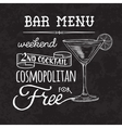 Bar menu of cocktail proposal vector image vector image