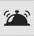 bell icon in flat style alarm on isolated vector image vector image