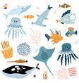 big creative nautical clipart with marine vector image