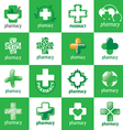biggest collection of logos for medicine vector image vector image