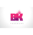 bk b k letter logo with pink purple color and vector image vector image