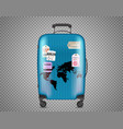 blue bag isolated on transparent background vector image vector image
