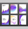 brochure cover design templates set vector image vector image