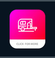 caravan camping camp travel mobile app button vector image vector image