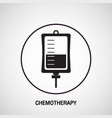 chemotherapy medical logo icon design vector image