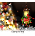 christmas tree light background vector image vector image