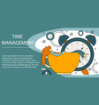 concept of time management vector image
