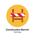 construction barrier flat icon vector image