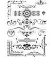 Corner and border and details of decoration vector image vector image