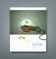 Cover annual report light bulb ecology concept vector image vector image