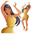 dancing woman in gold vector image