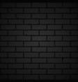 dark brick wall vector image vector image