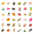 dietary icons set isometric style vector image vector image