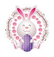 easter rabbit cartoon vector image vector image