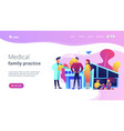 family doctor concept landing page vector image vector image
