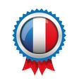 France badge with red ribbon vector image vector image