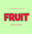 fruit text effect vector image vector image