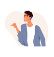 furious angry man pointing at smb with finger vector image
