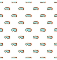Glasses for snowboarding pattern cartoon style vector image vector image