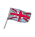 great britain flag hand drawn isolated icon vector image