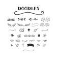 handdrawn doodle set vector image