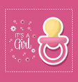 happy baby shower vector image