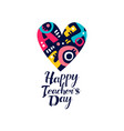 happy teachers day logo creative template vector image