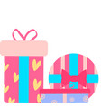 icons of gift boxes vector image vector image