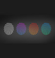 id app icon template set fingerprint set in vector image vector image