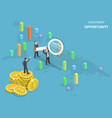 investment opportunity flat isometric vector image vector image