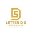 Letter d s logo icon design template