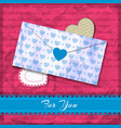 light blue heart pattern vector image vector image
