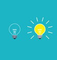 light bulb on and off mode in flat style vector image vector image
