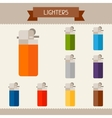 Lighters colored templates for your design in flat vector image vector image