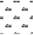 Locomotive black icon for web and vector image vector image