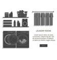 loundry room vector image vector image