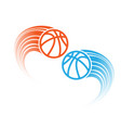 love basketball background vector image