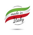 made in italy quality label on white vector image