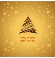 Magic holiday vintage card on a golden background vector image