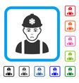 miner framed pitiful icon vector image vector image